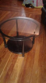 nice black wood and glass coffee table in Alamogordo, New Mexico