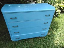 Lovely Refinished Blue Vintage Dresser in Aurora, Illinois