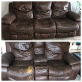 Leather Reclining Couch Set in Clarksville, Tennessee