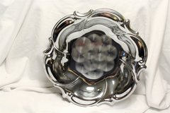 """IOB Vintage Antique Chrome Plated Candy Serving Dish 10"""" in Kingwood, Texas"""