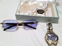 Frondini Collection Watch & Sunglasses Gift Set Blue Lens Swiss Quartz Movement in Kingwood, Texas