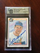 1983 Donruss HOF Heroes TED WILLIAMS GAI Certified Autograph card. in Valdosta, Georgia