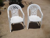 %%%  2 x Plastic Chairs  %%% in 29 Palms, California
