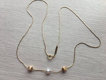 14 k yellow gold necklace with beads in Okinawa, Japan