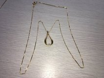 14k necklace and pendant with a small diamond in Okinawa, Japan