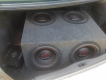 "Complete Stereo System- (2)15"" speakers-800W, (2)12"" speakers, Amp and subs in Columbus, Georgia"