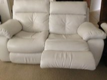 New Leather Ivory Double Reclining Loveseat in 29 Palms, California
