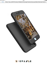 BRAND NEW!!! iPhone 7 case (black). Full Coverage with Tempered Glass Protector. in Okinawa, Japan
