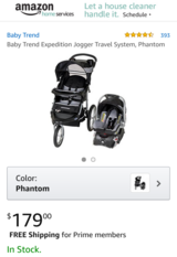 Baby Trend Expedition Jogger Travel System, Phantom in Okinawa, Japan