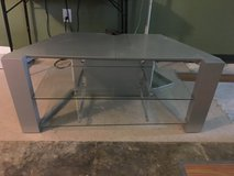 Silver Metal TV Stand in Baytown, Texas