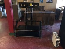 Black and Glass Tv Entertainment Stand in Fort Polk, Louisiana