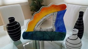 GORGEOUS LARGE SCALE CONTEMPORARY ART GLASS PLATTER in Algonquin, Illinois