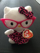 TY Beanie Baby Hello Kitty (2012) - Pink Leopard Print with Glasses in St. Charles, Illinois