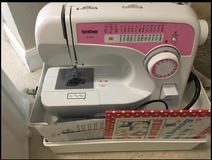 New Sewing Machine with carrying case, Supplies and Sewing book in Colorado Springs, Colorado