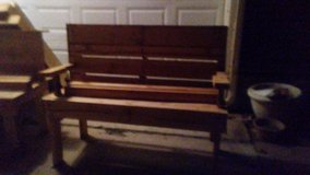 Hand made bench in Lawton, Oklahoma