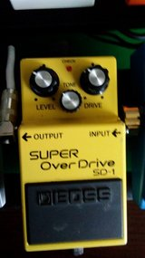 Boss SD1 superover drive pedal in Fort Campbell, Kentucky