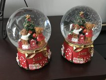 2 snow globes from Macy's dated 2016 in Kingwood, Texas