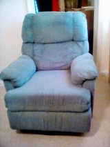 Blue recliner chair in Norfolk, Virginia