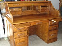 solid oak rolltop desk full size in 29 Palms, California