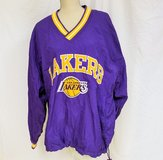 L.A. Lakers Purple Yellow L Warm Up Reversible Embroidered Long Sleeve Champion in Kingwood, Texas