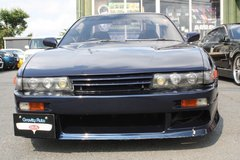 1992 NISSAN SILVIA (Navy Blue) - Inspection & Shipping Included in Okinawa, Japan