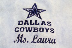 NEW Dallas Cowboys NFL Towel Star Blue Embroidered Ms Laura Golf Hand Dez Dak in Houston, Texas