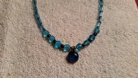 "Handcrafted Beaded Necklace, Blue Moon, 18"" Long in 29 Palms, California"