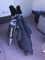 Full set men's Dunlop golf clubs with bag, covers, balls and ball collector in Ramstein, Germany