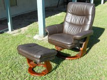 Leather chair and foot rest in Hinesville, Georgia