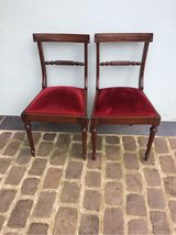 2 nice antique chairs red velvet from France in Ramstein, Germany