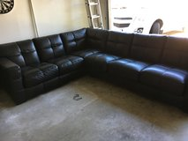 Black Leather Sectional Couches in Camp Pendleton, California