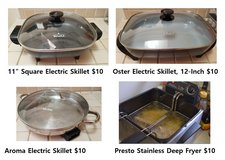 Electric Skillet Pan Deep Fryer in Fairfield, California