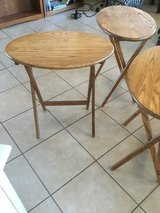 Oak Tray tables Folding in Alamogordo, New Mexico