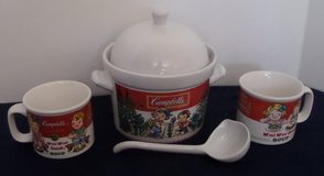 Vintage Campbell's Soup Tureen with Two Soup Mugs & Ladle in Kingwood, Texas