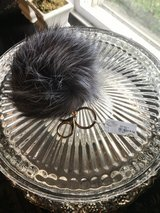 Fur Pom Key Chain - NEW Stocking Stuffer! in Orland Park, Illinois