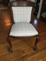 Victorian parlor chair in St. Charles, Illinois