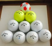 10 Callaway Chrome Soft used golf balls near mint condition in Naperville, Illinois