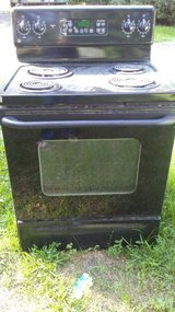 30 inch Black GE electric stove in Kingwood, Texas