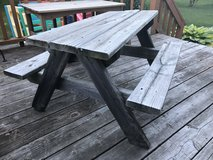 Kids Wood Picnic Table in Chicago, Illinois