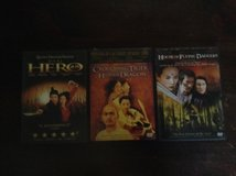 3 DVDs: Hero, Crouching Tiger, House of Flying Daggers in Kingwood, Texas