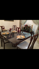 Solid Wood Formal Dining Set With Hutch in Baytown, Texas
