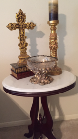 Marble Top End Table Set (3) in Baytown, Texas