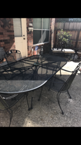 Patio Table 4 Chairs and Bench in Baytown, Texas