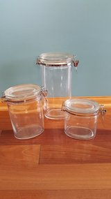 Glass canisters (set of 3) in Yorkville, Illinois