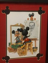 Disney lithograph in Fort Rucker, Alabama