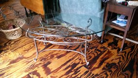 Glass coffee table in Beaufort, South Carolina