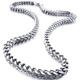 ***BRAND NEW***Men's 6mm Wide Stainless Steel Necklace Curb Chain Link Silver 23 inch*** in Kingwood, Texas