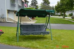 Padded Swing, frame and shade cover in Naperville, Illinois