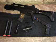 Double Eagle M85 Air Soft Gun + UKARMS Air Soft Pistol in Fort Campbell, Kentucky