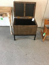"""Wicker chest on stand 23 1/2 inwide 16 in deep 21""""tall in Kingwood, Texas"""